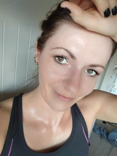 My sweaty face :p